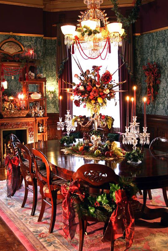 victorian christmas table decoration