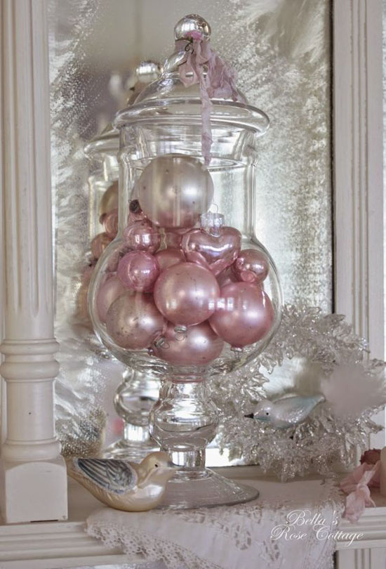 for those who want a victorian inspired christmas decoration but on a tight budget this one is for you get all those pink and pastel christmas balls and