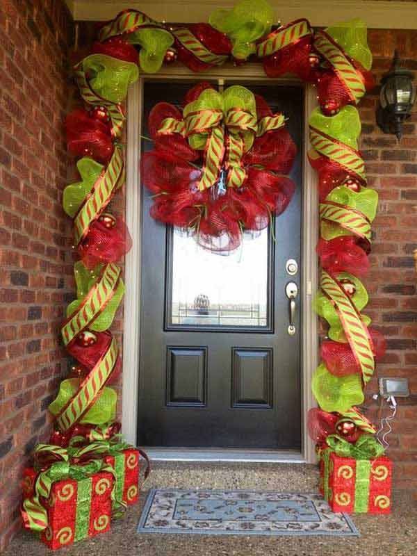 Christmassy Front Porch