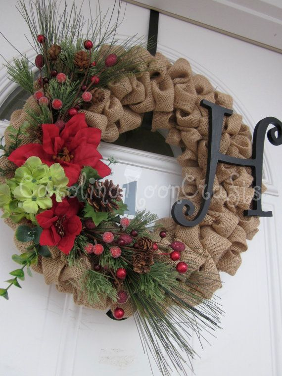 Huge Burlap Wreath