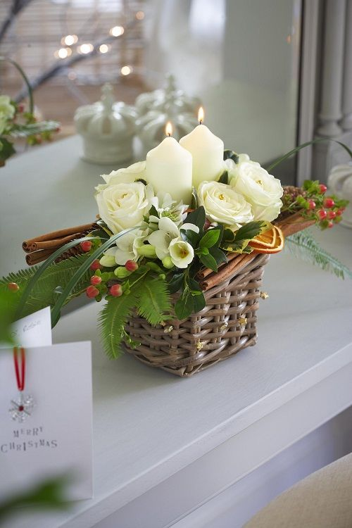 Most beautiful and amazing christmas flower arrangements christmas white christmas mightylinksfo
