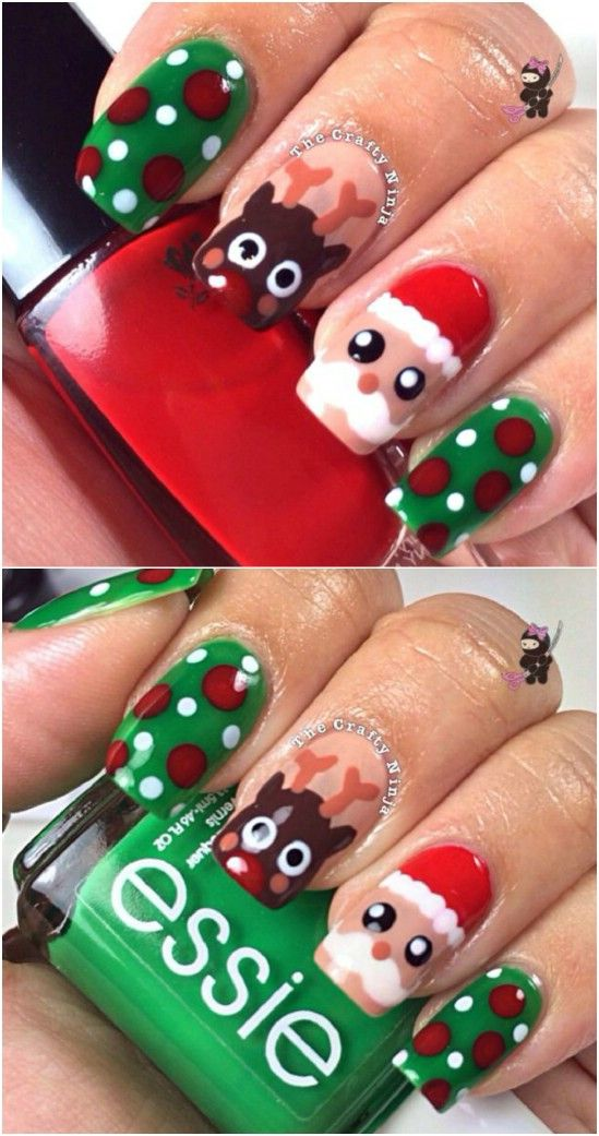 30 Most Cute Christmas Nail Art Designs Christmas Celebration