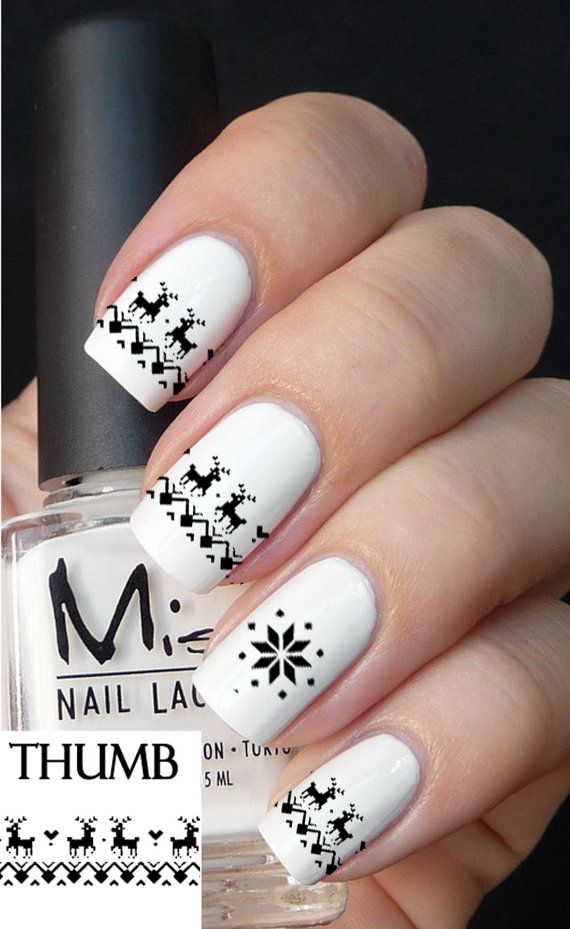 cute christmas nail art designs 14 source