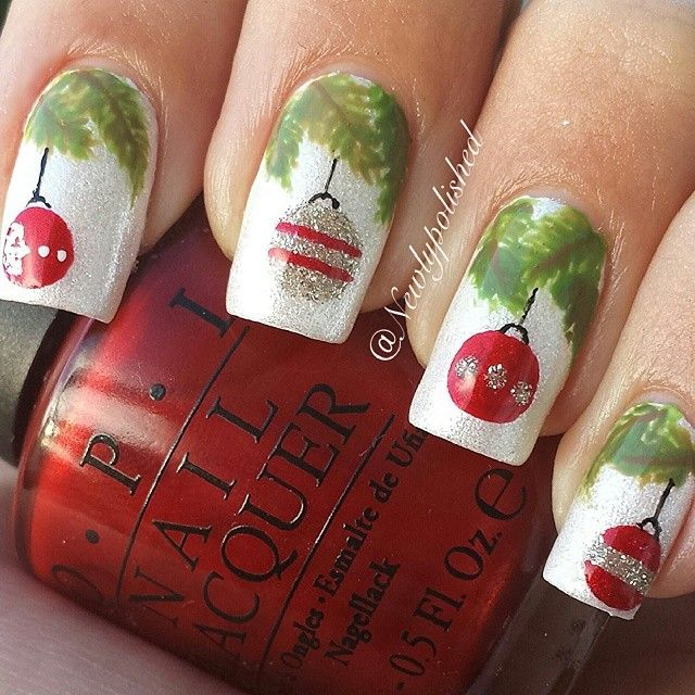 Cute Christmas Nail Art Designs 16 Source