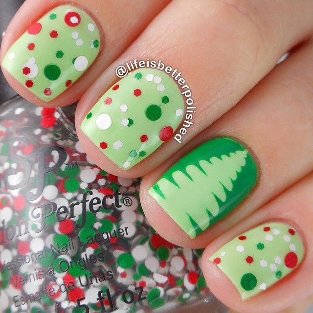 30 Most Cute Christmas Nail Art Designs