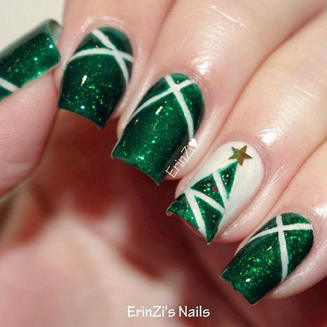 Nail Art Designs Red And Green | Hession Hairdressing
