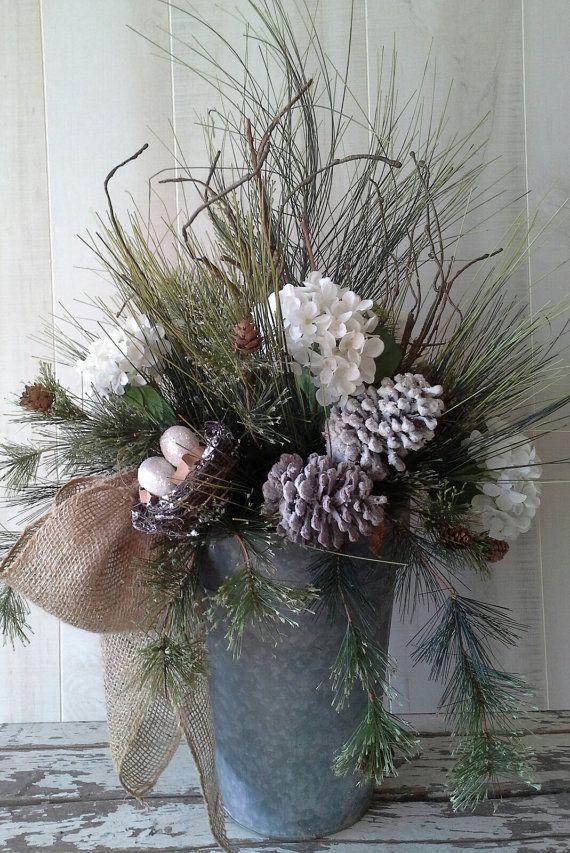 Snowy Vase