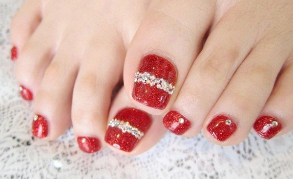Christmas Toe Nail Designs 12