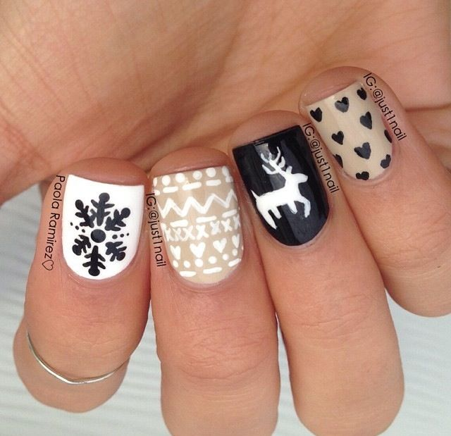 cute christmas nail art designs 5 source