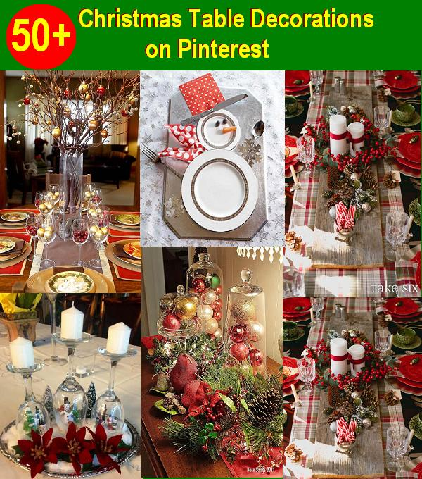 christmas table decorations - Pinterest Christmas Table Decorations