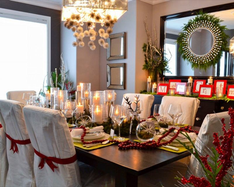 luxury dining room centerpiece ideas - Christmas Dining Room Table Decorations