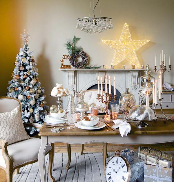 Elegant Christmas Living Room Decorations 03