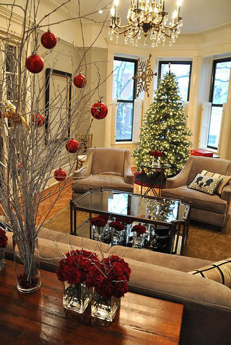 Christmas living room decorating ideas - Pictures of decorated living rooms ...
