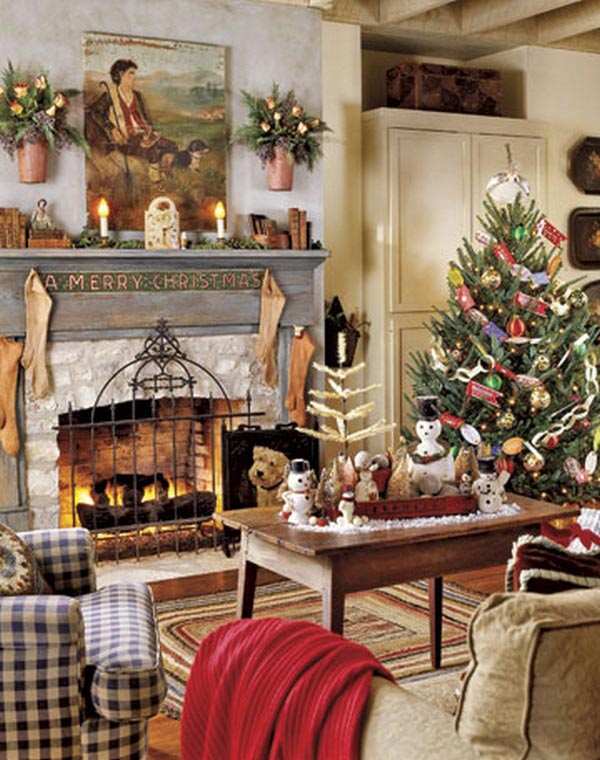 Most beautiful christmas living room decorating ideas for for Xmas room design