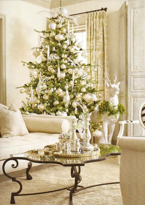 Most beautiful christmas living room decorating ideas for for Christmas decor ideas for living room