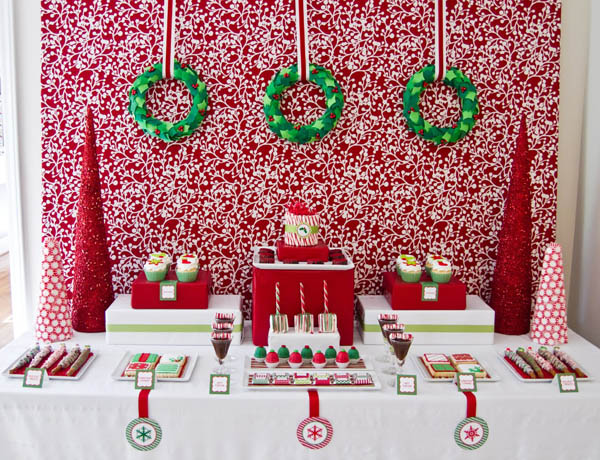 Christmas Party Table Decorations Christmas Celebration All
