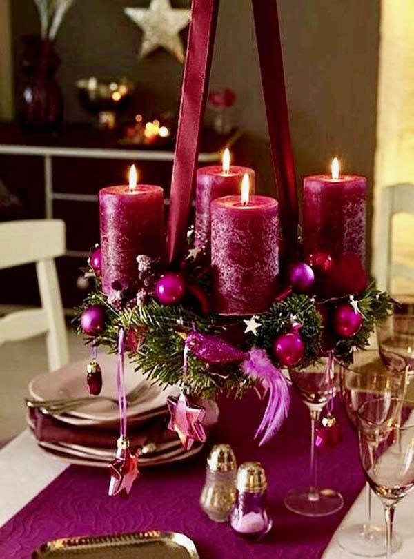 Majestic Purple Table Decorations