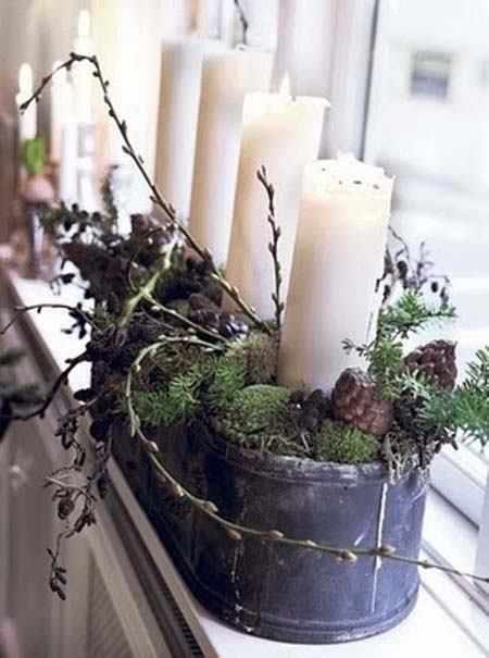christmas table decoration ideas 17 - Rustic Christmas Table Decorations