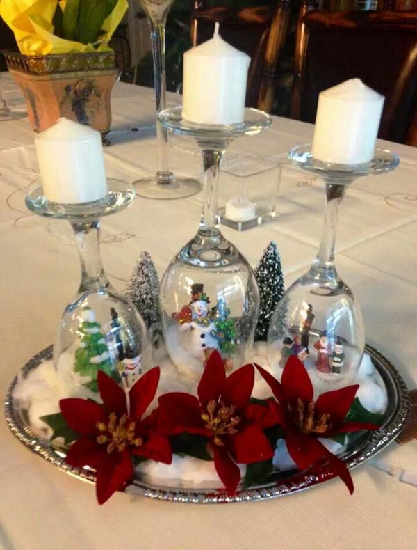 christmas table decoration ideas 18 - Christmas Table Decorations