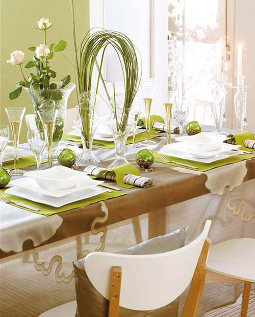 christmas-table-decorations-green