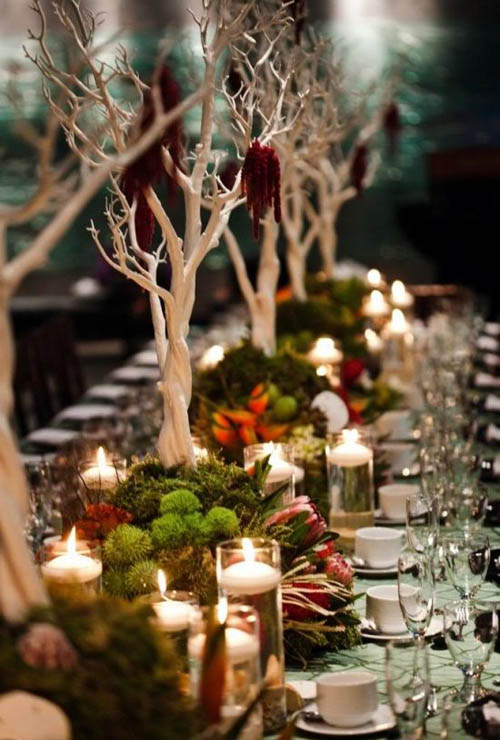 christmas table decorations pinterest 03 - Rustic Christmas Table Decorations