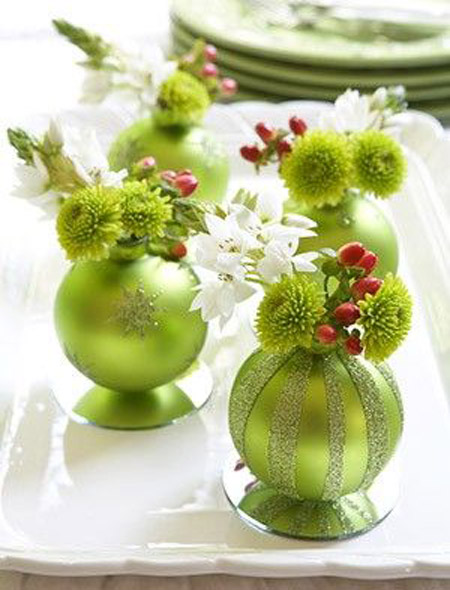 christmas table decorations pinterest 14 - Green Christmas Table Decorations