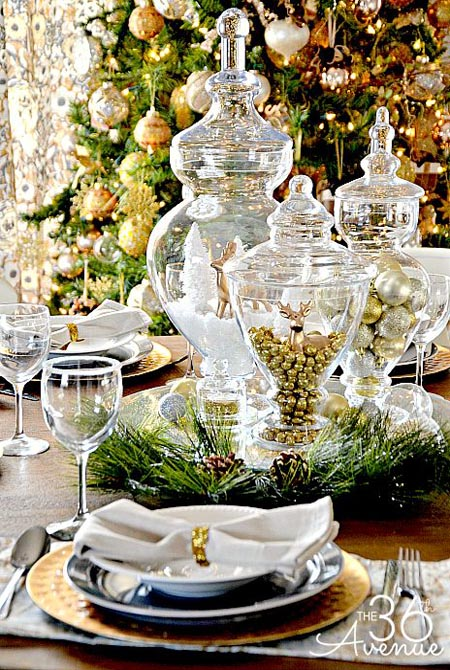 Christmas Table Decorations Pinterest 17