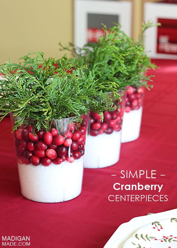 christmas table decorations pinterest 20 - Simple Christmas Table Decorations