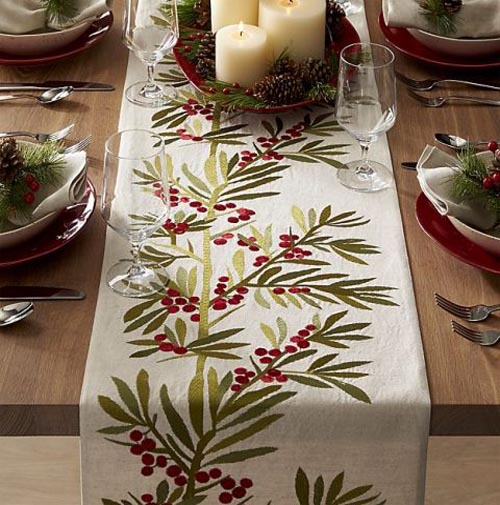 Christmas Table Runner.Top 45 Most Beautiful Christmas Table Runners Christmas