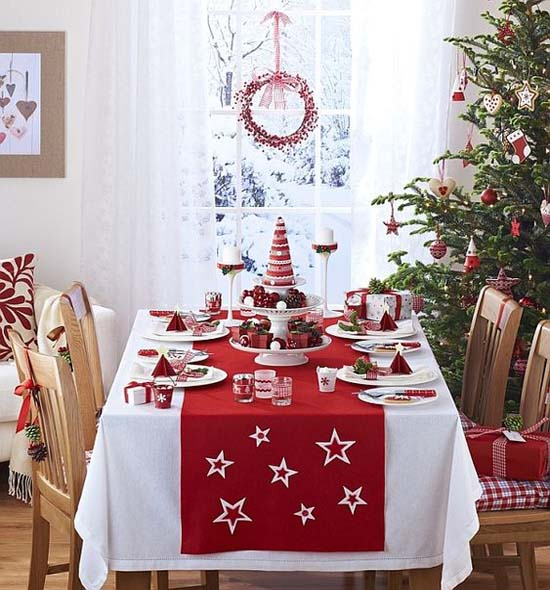 Christmas Table Runners.Top 45 Most Beautiful Christmas Table Runners Christmas