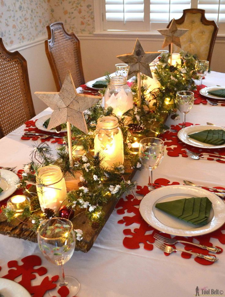 Top Christmas Table Decorations On Search Engines: christmas decorations for the dinner table