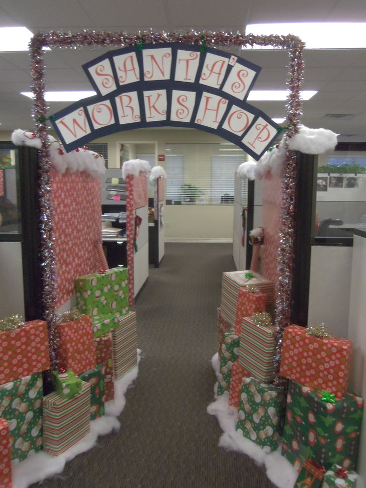 holiday office decorating ideas