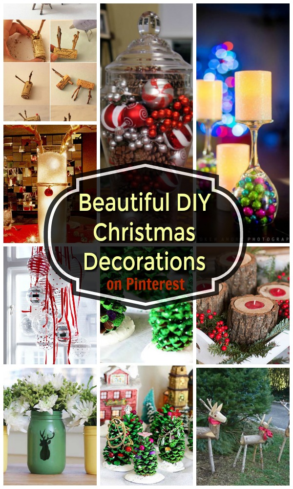 22 beautiful diy christmas decorations on pinterest christmas celebration all about christmas. Black Bedroom Furniture Sets. Home Design Ideas