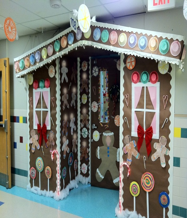 Candy Cane Themed Door Decorations