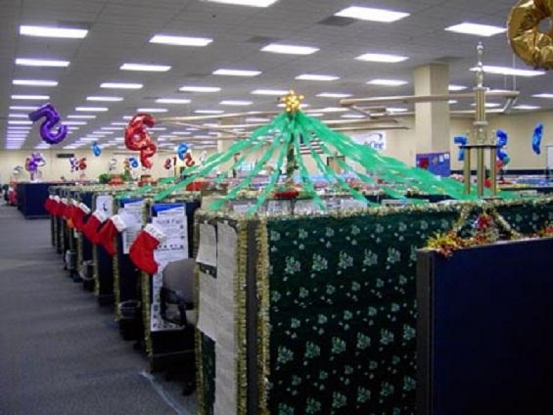 office cubicle christmas decorating ideas - Christmas Decoration Ideas For Office