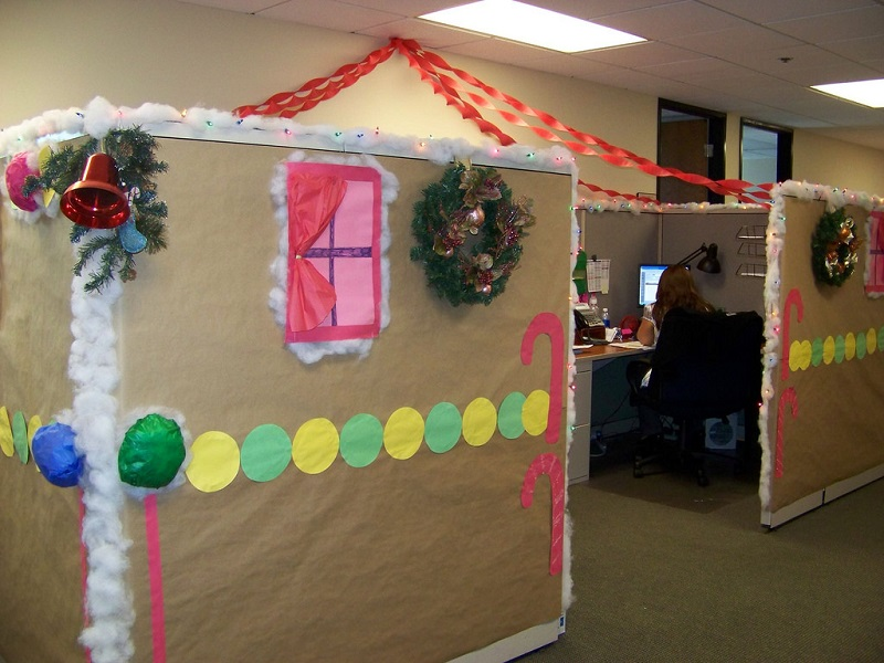 Decorating Office For Christmas Part - 48: Simple Office Christmas Decoration Ideas