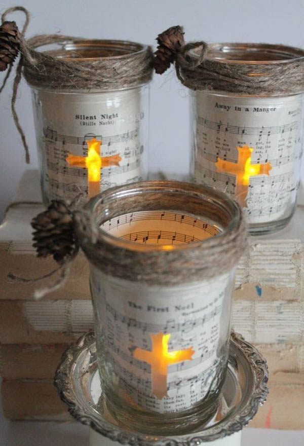 Christmas decorating with mason jars celebration