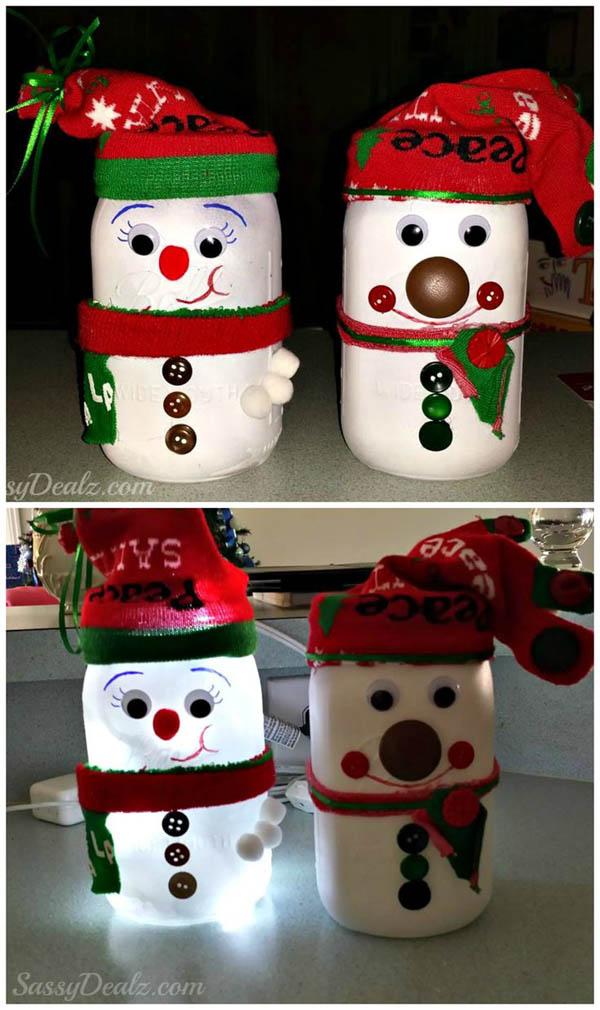 mason jar christmas decorations 11