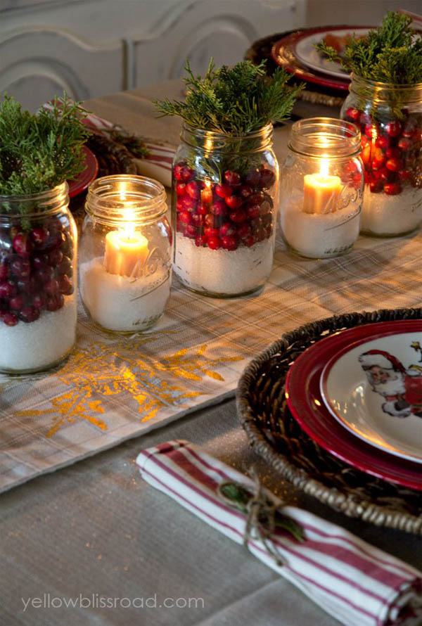 Christmas Decorating With Mason Jars Christmas Celebration All