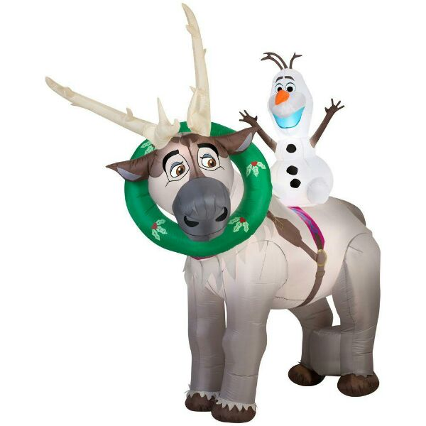 sven and olaf inflatable