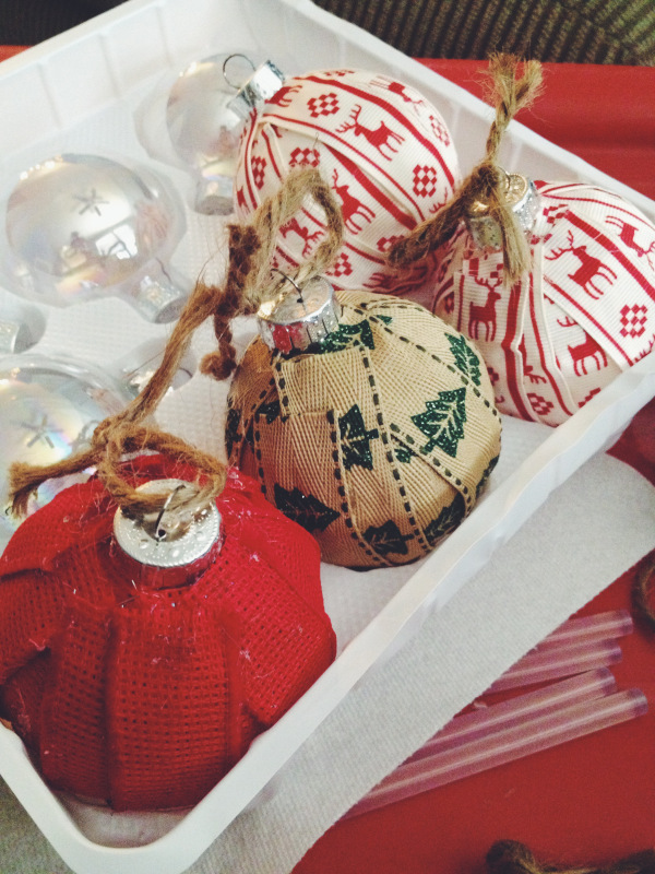 burlap christmas tree decoration source