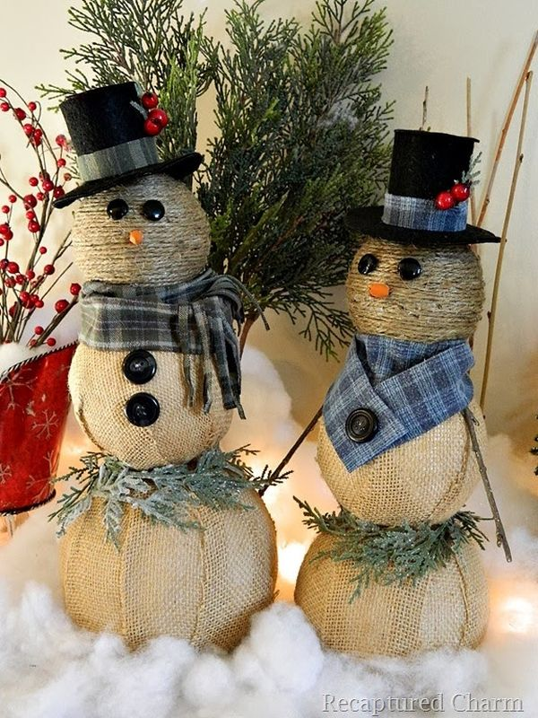 source - Burlap Christmas Decorations
