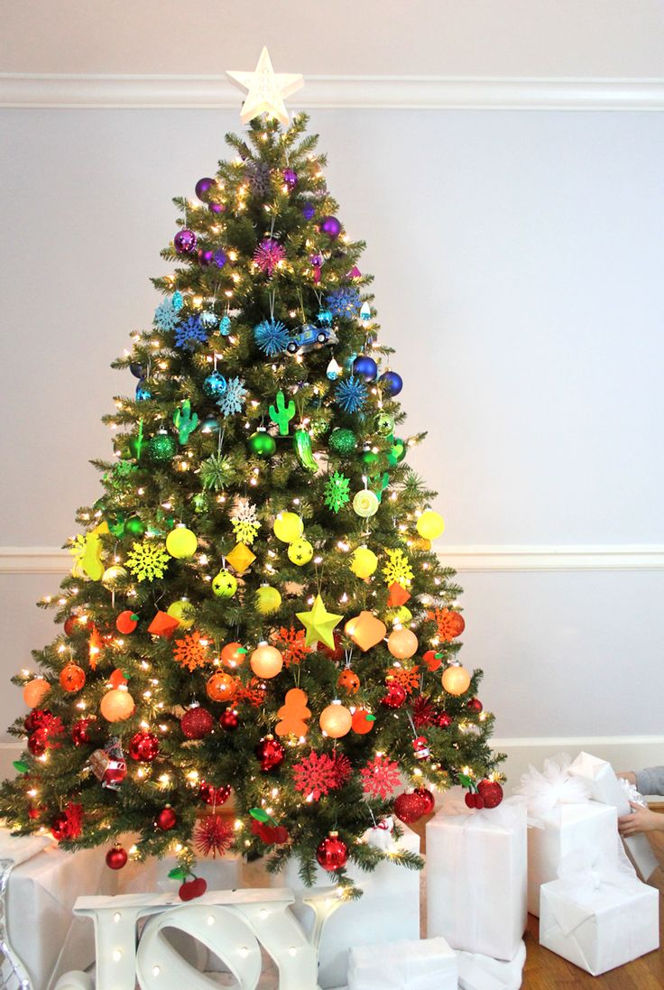 christmas tree with star top - Pictures Of Decorated Christmas Trees