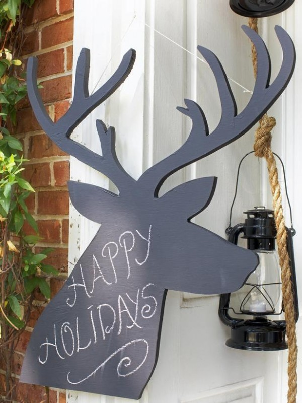 happy holidays reindeer cutout christmas wooden decorations