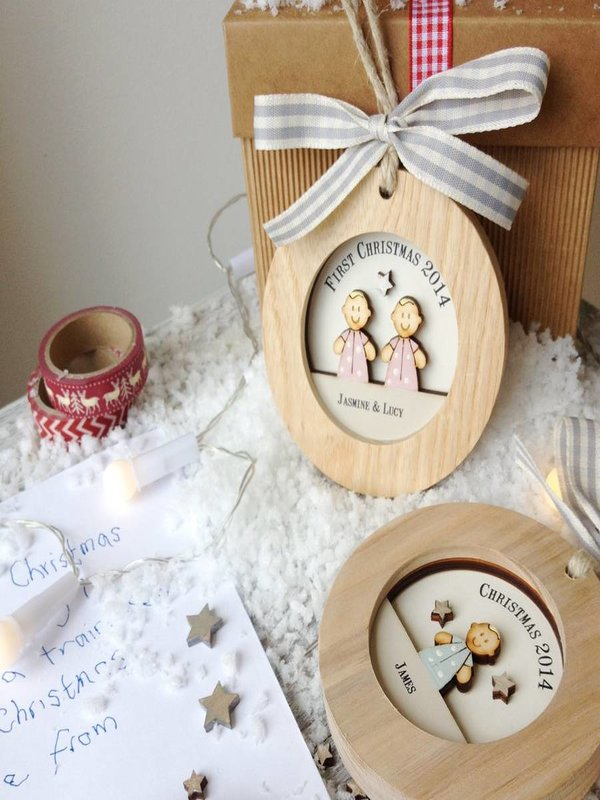 Wooden Christmas Baubles: Source