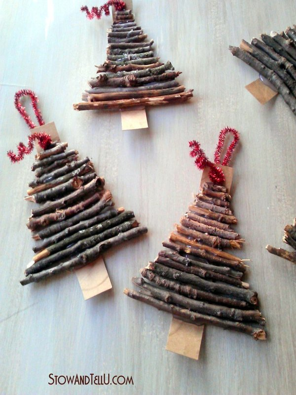 wooden christmas tree ornament - Wooden Christmas Tree Ornaments