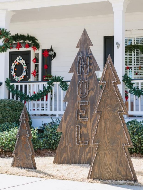 wooden christmas tree source - Diy Wood Christmas Decorations