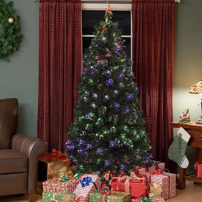 amazon christmas tree - Christmas Trees With Colored Lights Decorating Ideas