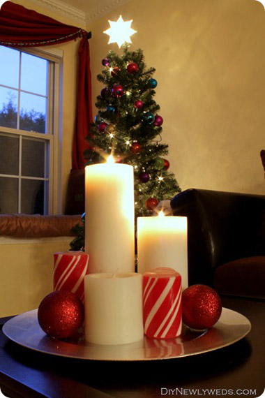 christmas candle decorating ideas - Christmas Candle Decorations