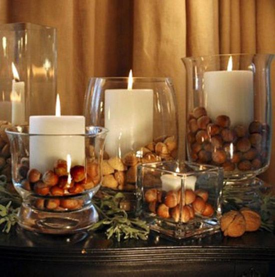 rustic christmas candle decorations